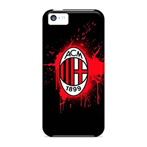 Shockproof Cell-phone Hard Covers For Iphone 5c (Xhj14587ezJJ) Custom Fashion Ac Milan 2 Series