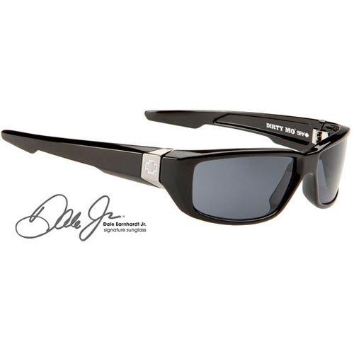 Spy Optic Unisex Dirty Mo Polarized Sunglasses, Black Signature/Grey, - Mo Dirty Sunglasses