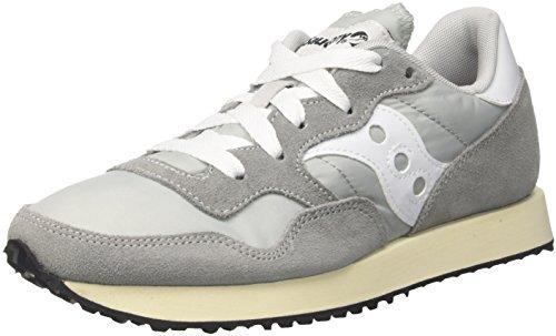 Saucony Mixte Adulte Dxn Chaussure Cru Entra?neur, Bianco Gris (gry / Wht 4)