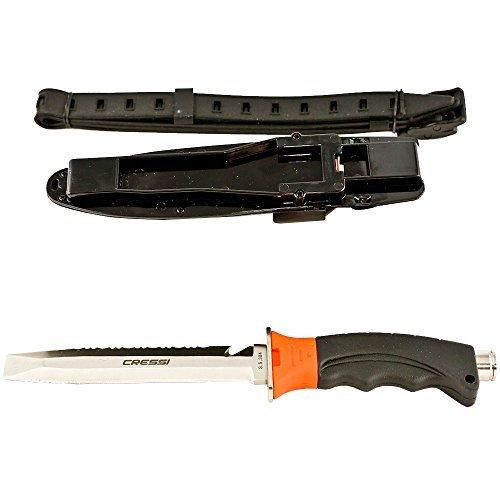 Blunt Tip Diving Knife - Cressi Borg, Orange