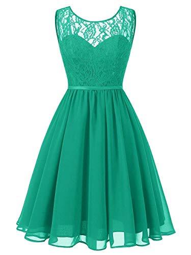 quality design be2da e77ac Jaeden Vestito Chiffon Abito D'onore Da Sera Sposa Verde ...