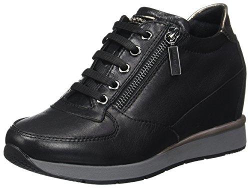 Jackie Black 3 Plataforma LTH Mujer Laminat Zapatos con Negro para Stonefly Nero SZBqwdZ