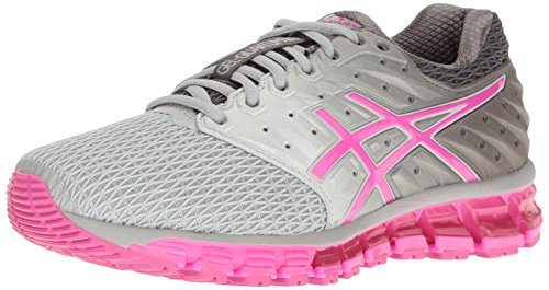 ASICS Women's Gel-Quantum 180 2 Running Shoe, Mid Grey/Pink Glow/Carbon, 11 M US