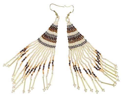 (Bohemian Style Fringe Seed Bead French Hook Earrings)