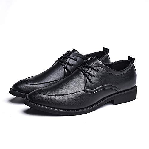 Oxford 41 cuoio Scarpe Xujw Scarpe inglesi classiche Stringate shoes classiche Marrone casual 2018 EU d'affari Nero di Basse Uomo Color Dimensione UPq0Uwx8
