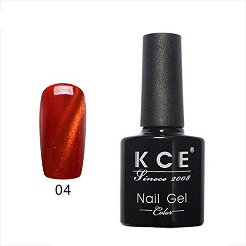 Mchoice UV glue Nail Polish Manicure LED Cats Eye color dark color7.5ml (D) - Eye Colour 2g Powder
