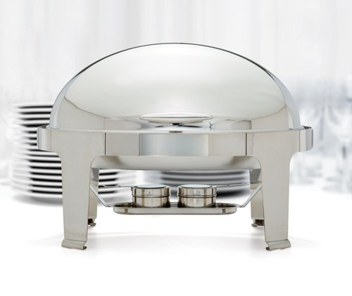 Winco 603 Oval Roll Top Chafer, 8-Quart