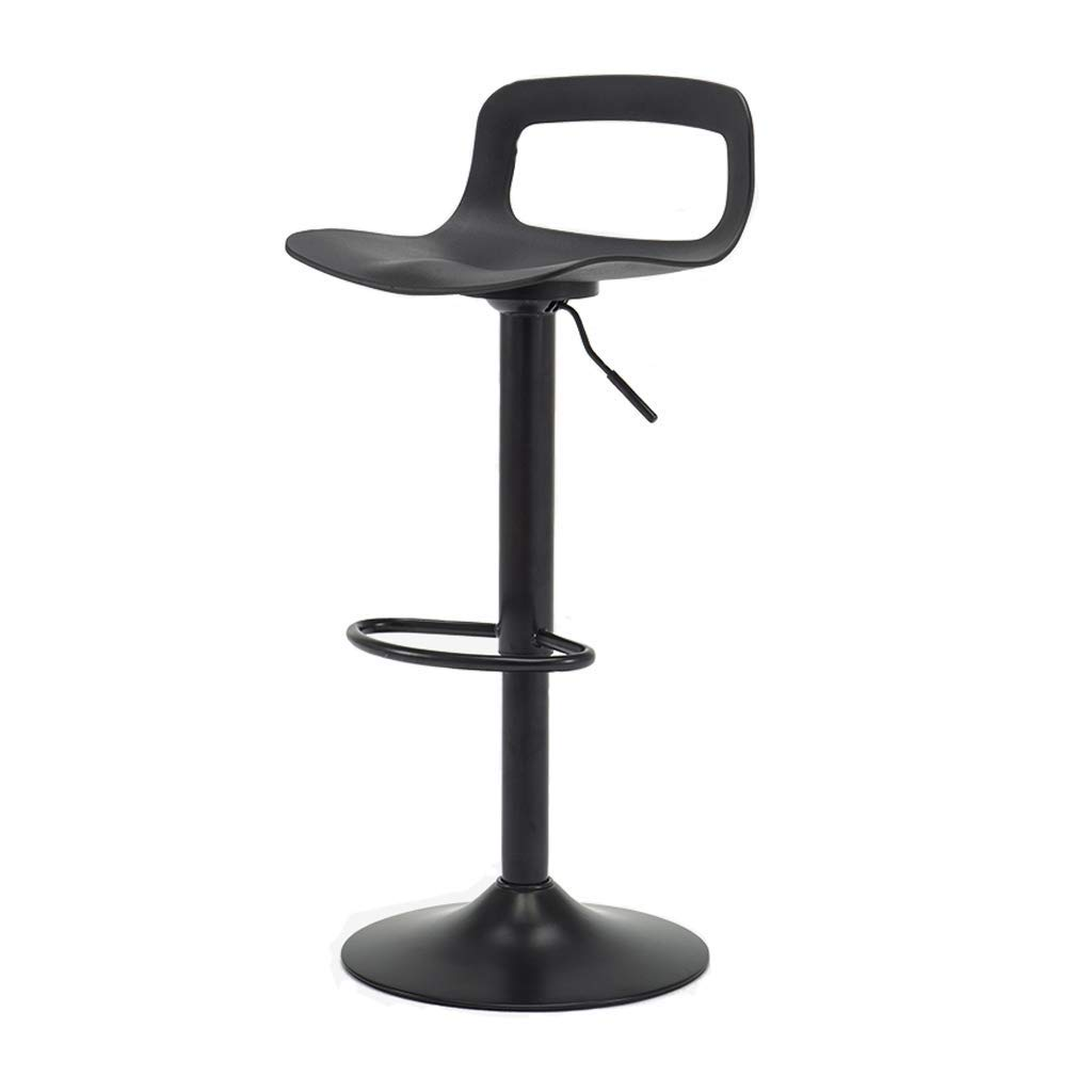 Black Bar Chair redating Can Be Raised and Lowered Home Bar Furniture LEBAO (color   White)