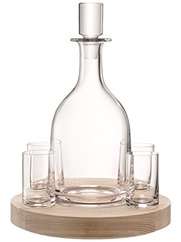 LSA International Lotta Decanter Set & Ash Base, 32 fl.oz. by LSA International