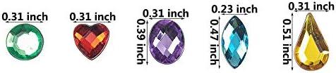 1000pcs Acrylic Rhinestone Flatback Scrapbook Nail Art Craft White SS4-SS46 CA