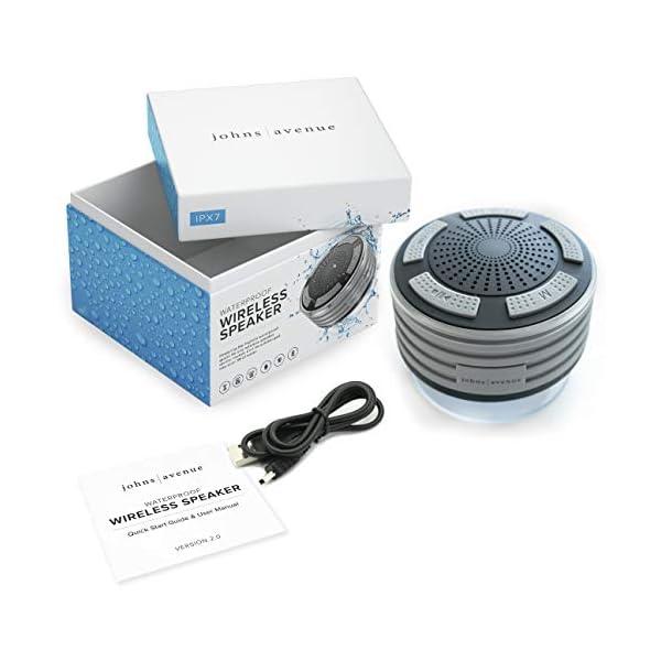 Bluetooth Shower Speaker Waterproof by Johns Avenue in the box