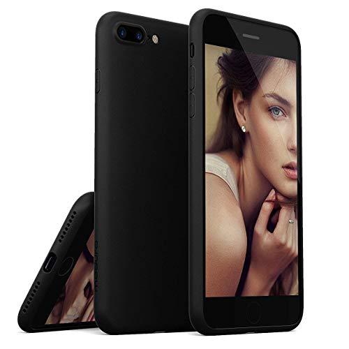 iPhone 8 Plus Case / iPhone 7 Plus Case, Moduro [MINIMALIST SERIES] Full Coverage Ultra Thin [1.0mm] Slim Fit Flexible TPU Case for iPhone 8 Plus / iPhone 7 Plus (Matte Black)