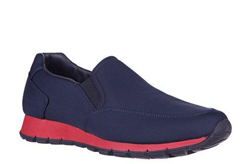Prada slip on uomo nuove sneakers originali tech blu