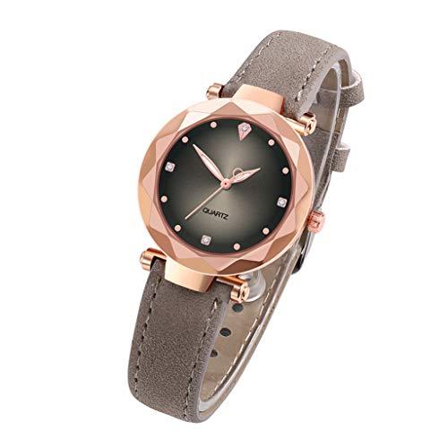 Roumin Women's Watch, Luxury Quartz Watch Stainless Steel Dial Casual Watch(Gray)