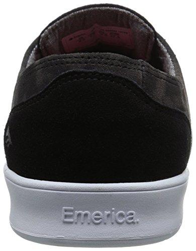 Emerica Laced by Leo Romero - Zapatillas de Skateboarding de ante hombre Gris (Black Print 358)
