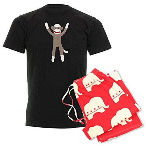 CafePress Excited Sock Monkey Unisex Novelty Cotton Pajama