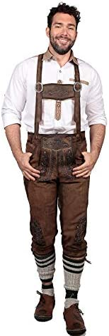 Kniebundhose de luxe dunkelbraun Oktoberfest Karnevalkostüm