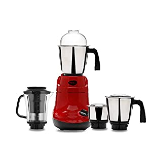 Pigeon by Stovekraft Ruby Woo Mixer Grinder with 3 Jars and 1 Juicer Jar, 750 Watts