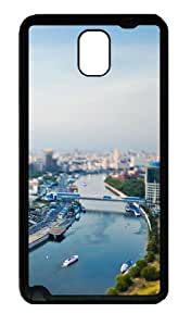 Samsung Galaxy Note 3 CaseCityscape River TPU Custom Samsung Galaxy Note 3 / Note III/ N9000 - Black