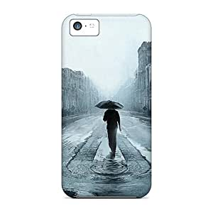 Top Quality Case Cover For ipod touch5 Case With Nice Rainy Street Noire Illustration Appearance