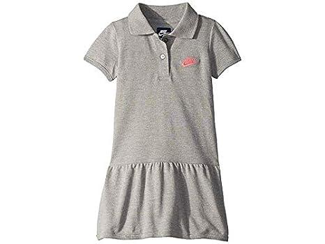 Nike Futura - Vestido Polo para niña (niños pequeños) - Gris - 6X ...