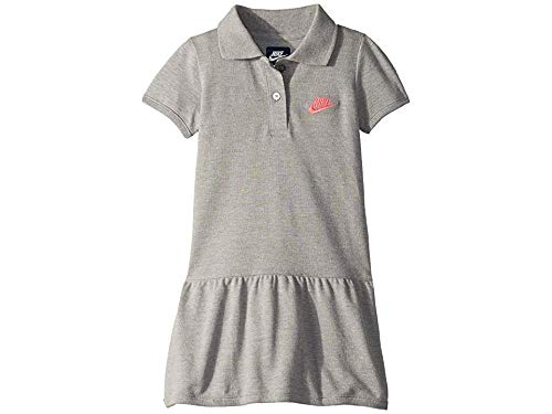 Nike Kids Girl's Futura Polo Dress (Little Kids) Dark Grey Heather 6X