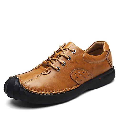 e42cd2e1019be Apariencia Casual Hombres Hombre Cómodos Zapatos Los Buena Calzado  sandaliasla Calidad Cita Versátiles Una Y De Yellow Inglaterra Transpirable  para ...