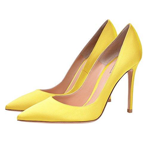 seide Mujer Para Gelb Sintético Vestir Zapatos Material De Eks w7gUSg