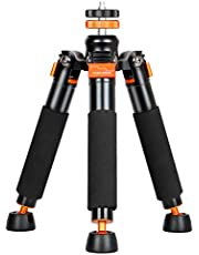 """Koolehaoda Desktop Mini Tripod with 1/4"""" and 3/8""""Screw,Universal 3 Legs Monopod Base Stand Unipod Support Compatible with DSLR Cameras Video Micro Shooting"""