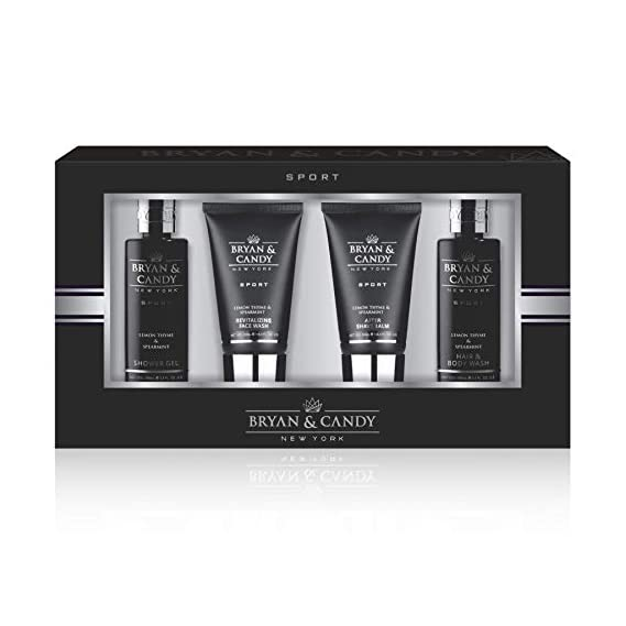 Bryan & Candy New York Ultimate Luxury Lemon Thyme & Spearmint START RIGHT GIFT KIT For Him (Body Wash, Face Wash, After Shave Cream, Men's Shower Gel)
