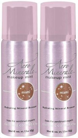 AERO MINERALE Makeup Mist Hydrating Mineral Bronzer MIAMI (PACK OF 2) by Trifing