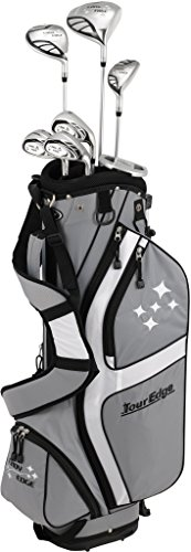 Tour Edge Female Lady Edge Package Set (Ladies, Right Hand, Graphite, Ladies, Starter Set), Silver/Black, Starter Set ()