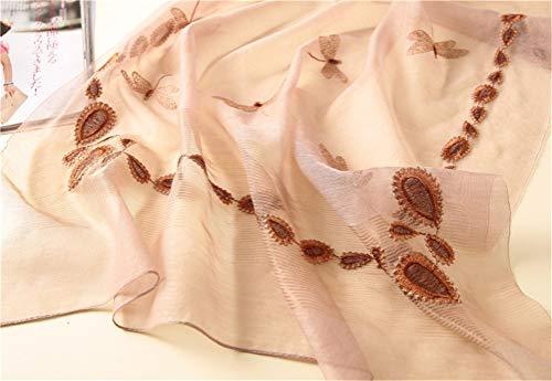 Intimo Ricamo Jiahe Signore sciarpa Seta Dell'oro Fatto scialle D Mano Di Selvaggia scialle c Delle Decorativa Sciarpa A Protezione Solare Regalo Lunga 4AArqXT