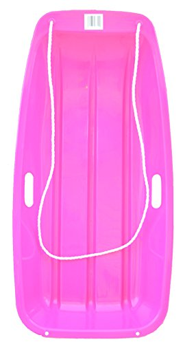 Children Sled - Snow Sled Kids Winter Toboggan Sled Slider 35-inch (PINK)
