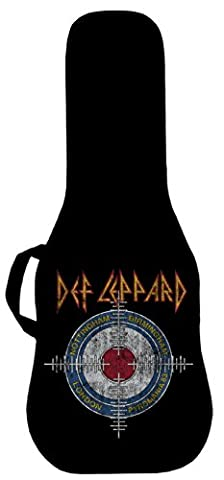 Official Def Leppard Pyromania Cross Hairs #1 Electric Guitar Case. Printed panel is (Acoustic Guitar Phitz)