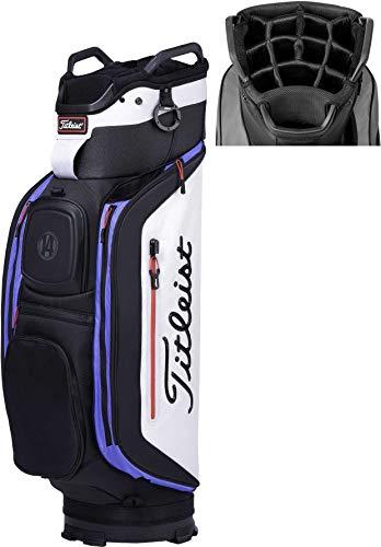 (Titleist 2018 Club 14 Cart Golf Bag (Silver/Black/Marina, No Size))