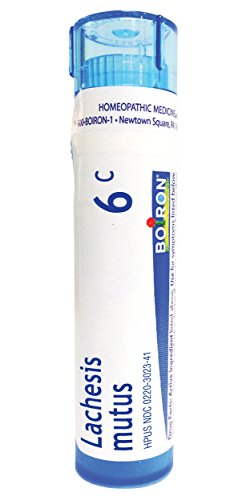 Boiron Lachesis Mutus 6C (Pack of 5), Homeopathic Medicine for Hot Flashes (Best Over The Counter Medicine For Hot Flashes)