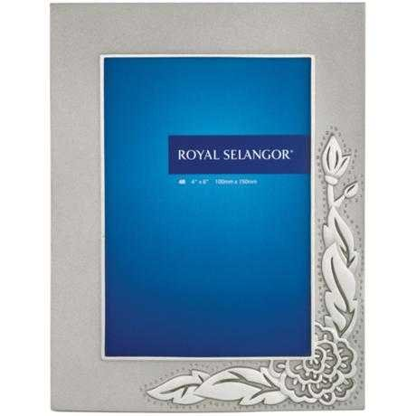Royal Peony - Royal Selangor Hand Finished Peony Collection Pewter Photo Frame (4R)