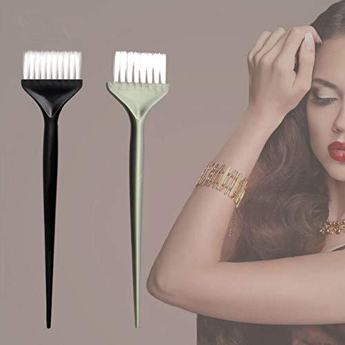 (1 piece 2pcs Hair Dye Coloring Brushes Hair Coloring Dyeing Kit Handle Salon Hair Bleach Tinting DIY Tool)