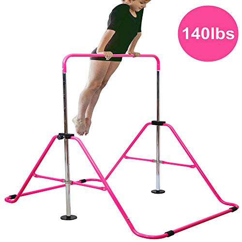 - Reliancer Expandable Gymnastics Bars Junior Training Bar Adjustable Height Gymnastic Horizontal Bars Children Folding Training Monkey Bars Child Gym Climbing Tower Kip Balance Bar for Kids Gymnasts