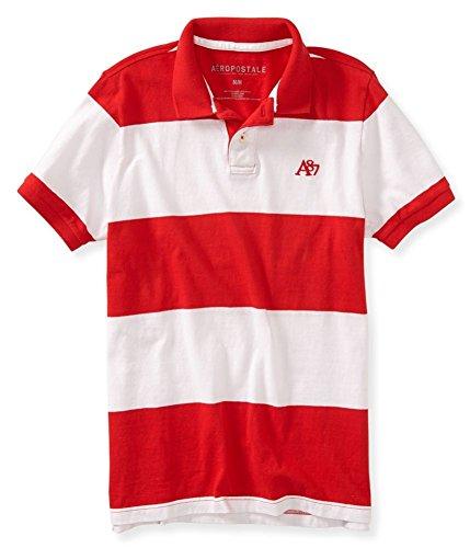 Aeropostale Mens A87 Stripe Rugby Polo Shirt 629 XS