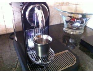 schwarz Nespresso Pixie Espresso Ristretto Metall Becher Tasse