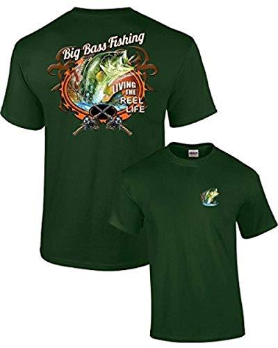 Heavyweight Size T-shirt Plus - Fishing T-Shirt Big Bass Fishing-Forest-XXXL