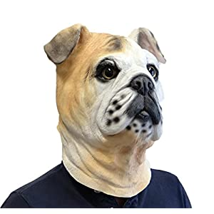Rubber Johnnies International Bulldog Mask , Animal Mask , Fancy Dress , Dog Mask , Latex , Full Head , Canine