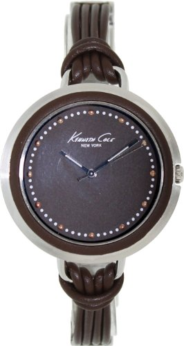 Kenneth Cole New York Women's KC2652 3-Hand Analog Japanese Quartz Brown Leather Large Fashion Watch