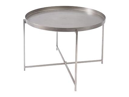 Artisanti Suraya Etched Round Metal Tray Coffee Table Amazon Co