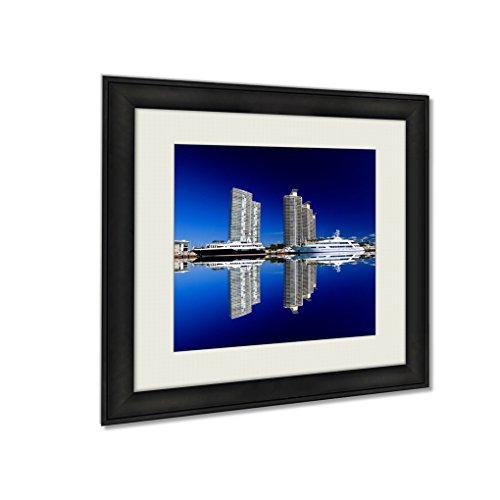 Ashley Framed Prints The Highrise Buildings In Miami Beach, Wall Art Home Decor, Color, 34x34 (frame size), - Miami Beach Bayside
