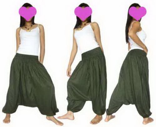 [Rayon Cotton Harem genie yoga pants Trousers.] (Genie Outfit)