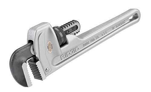 RIDGID 31090 Model 810 Aluminum Straight Pipe Wrench, 10-inch Plumbing Wrench by Ridgid