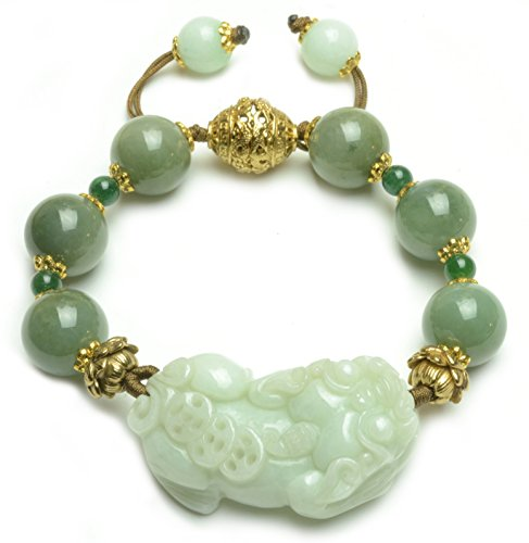 Diva Beaded Bracelets (Luxury Fortune Tiger Jade Beaded Amulet Bracelet - Fortune Feng Shui Jade Jewelry)